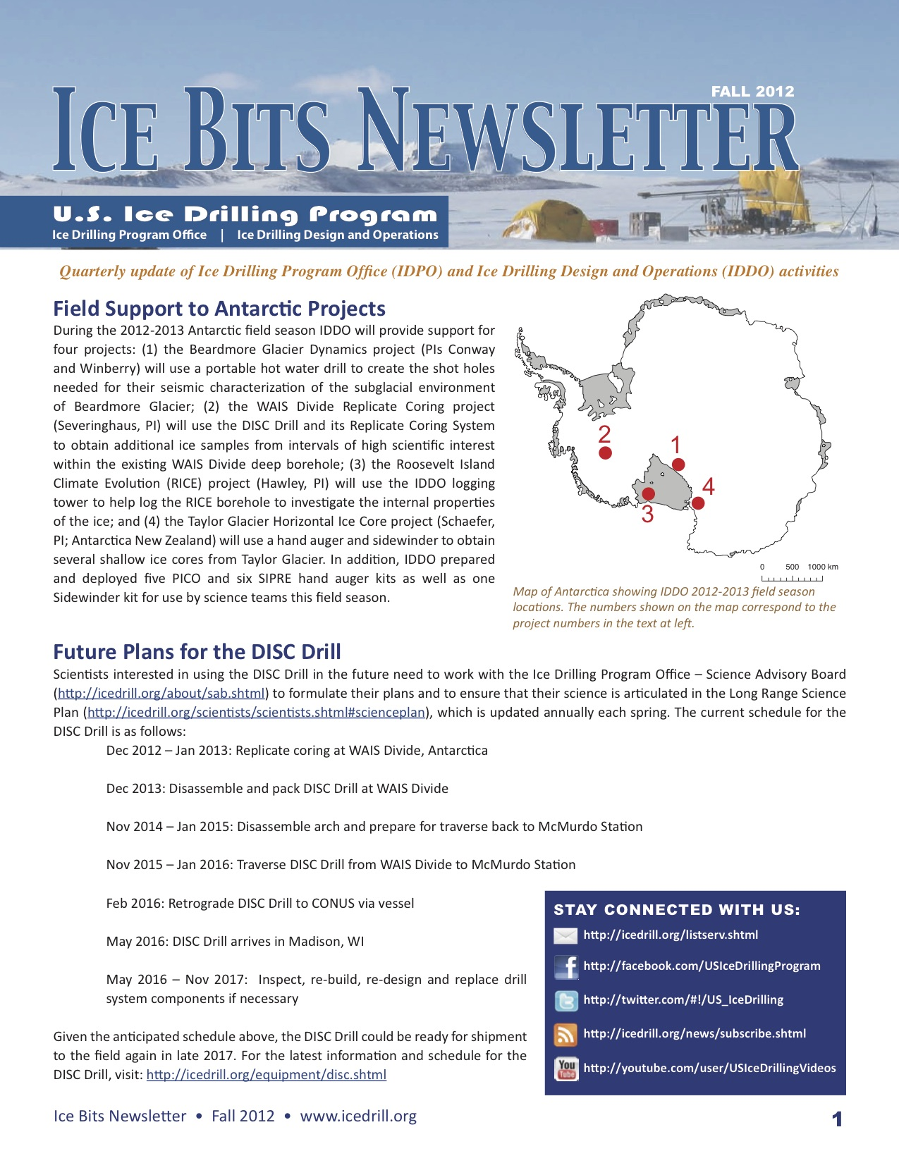 Cover of the Ice Bits newsletter