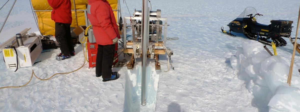 Drilling with the Badger-Eclipse Drill at Allan Hills, Antarctica