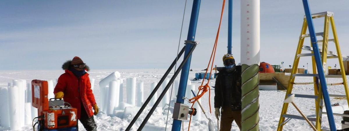 The Blue Ice Drill at Summit, Greenland, during the 2010 field season