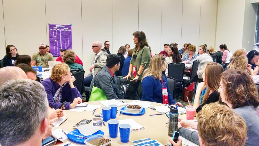 Louise Huffman instructs 88 middle and high school teachers during a session at the 2016 National Science Teachers Association (NSTA) Conference in Nashville, TN