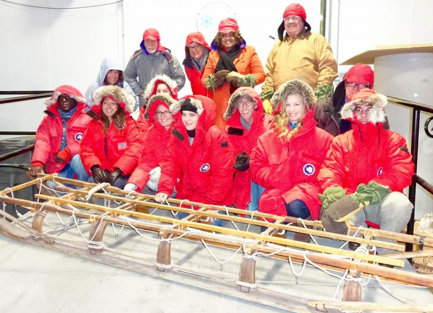 2016 School of Ice participants and facilitators at the U.S. National Ice Core Laboratory in Denver, CO