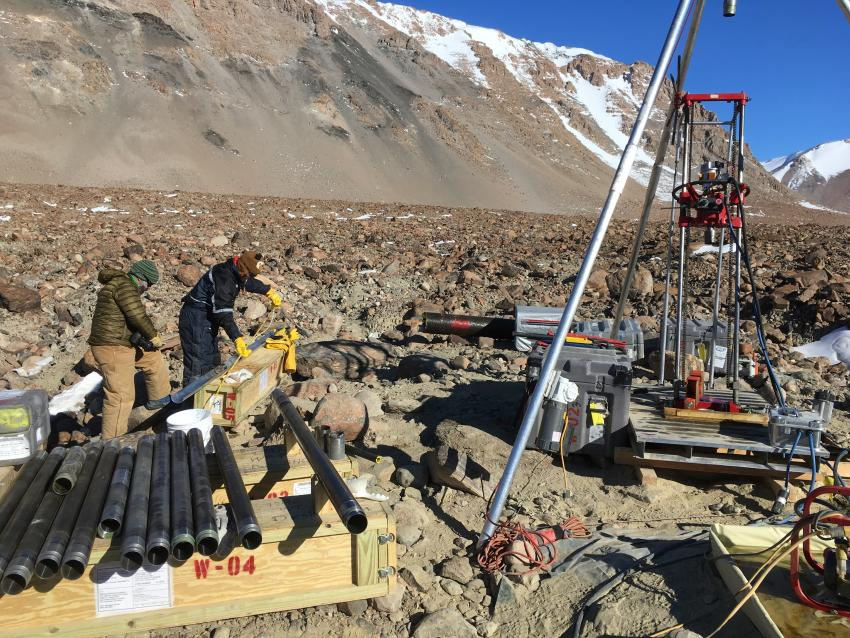The Winkie Drill in Ong Valley, Antarctica, during the 2017-18 field season