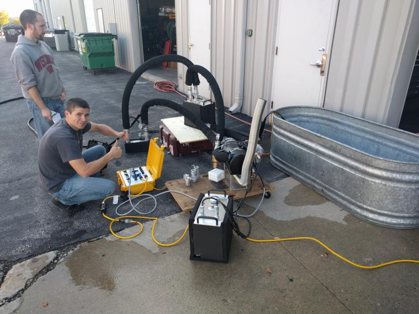 Testing of the SLLID at the IDP-Wisconsin warehouse in Madison, WI