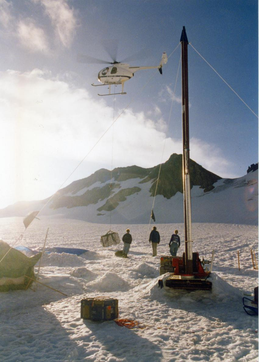 Retrograding ice cores collected with the thermal drill from South Cascade Glacier, Washington