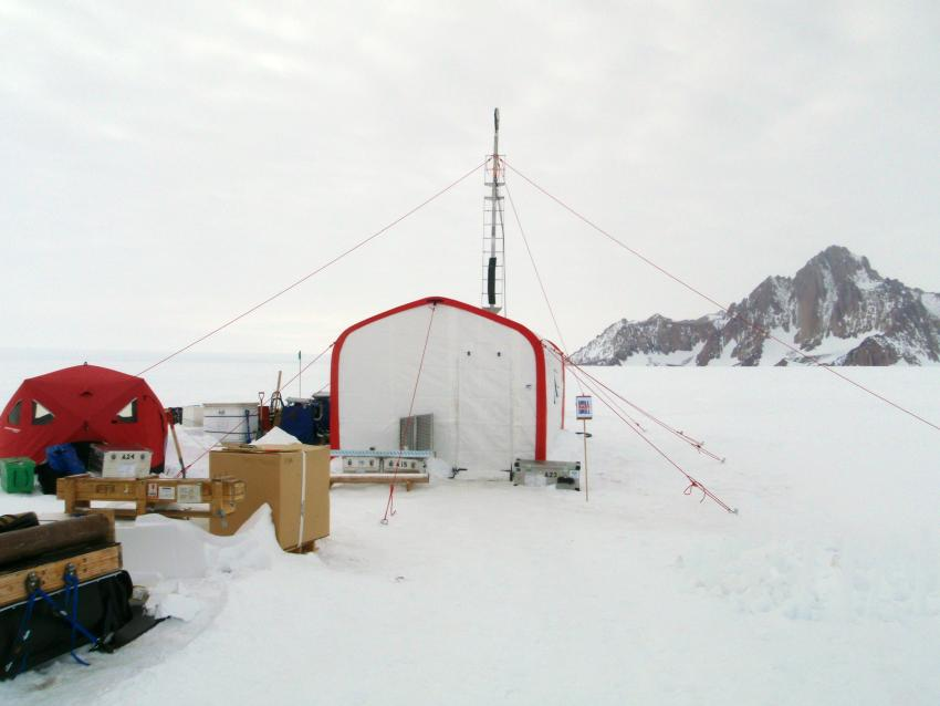 ASIG Drill in operation at Pirrit Hills, Antarctica, during the 2016-2017 summer field season