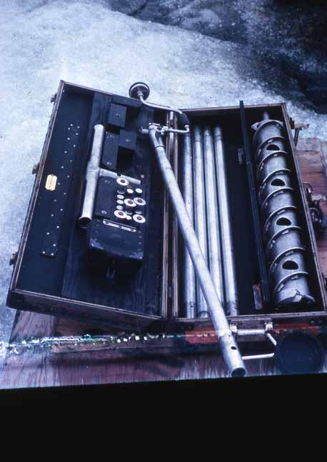 Historical image of the SIPRE hand auger