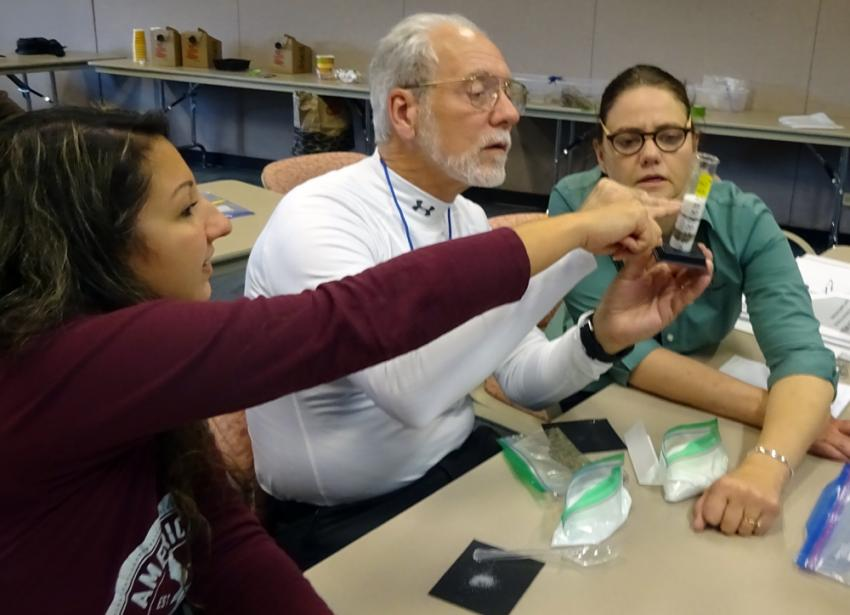 The 2017 School of Ice will have hands-on activities similar to this lab from last year's workshop