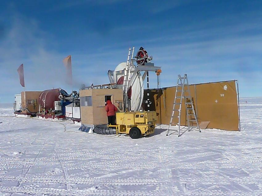 ARA hot water drilling at South Pole