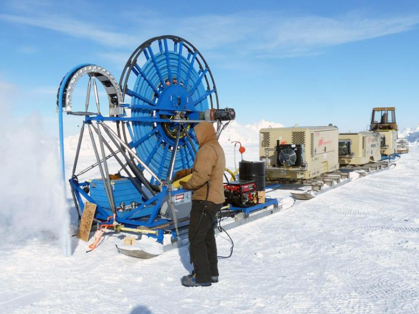 The original RAM Drill system in use during the 2010-2011 field season for the Askaryan Radio Array project at South Pole