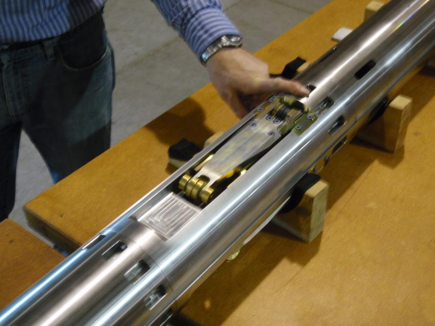 Close-up view of the Replicate Coring System actuator section