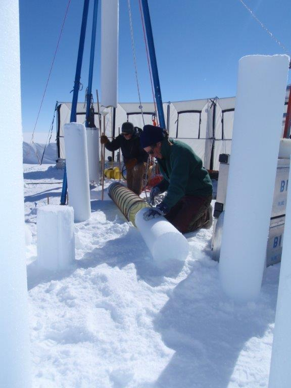 Blue Ice Drill firn coring testing in Greenland