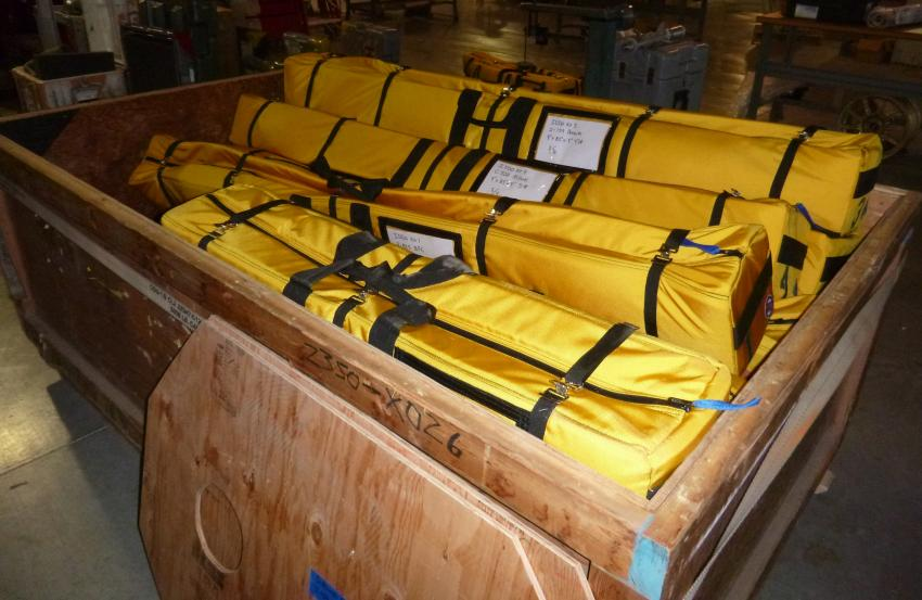 The new IDDO hand auger kits packed and ready for shipment to Antarctica
