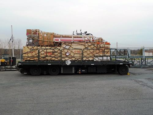 Intermediate Depth Drill cargo in New York, ready for transport to Greenland