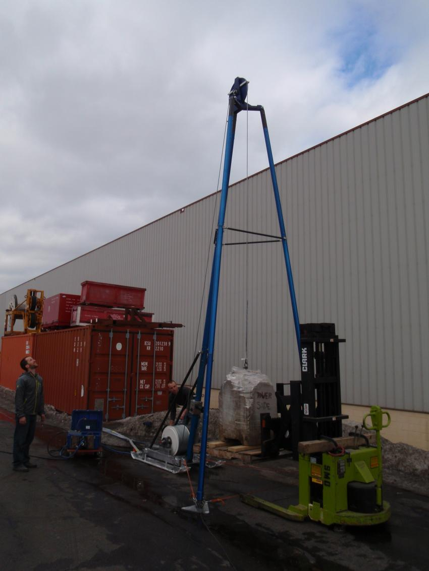 Blue Ice Drill - Deep System at IDDO warehouse