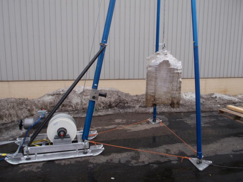 Blue Ice Drill - Deep winch and tripod assembly