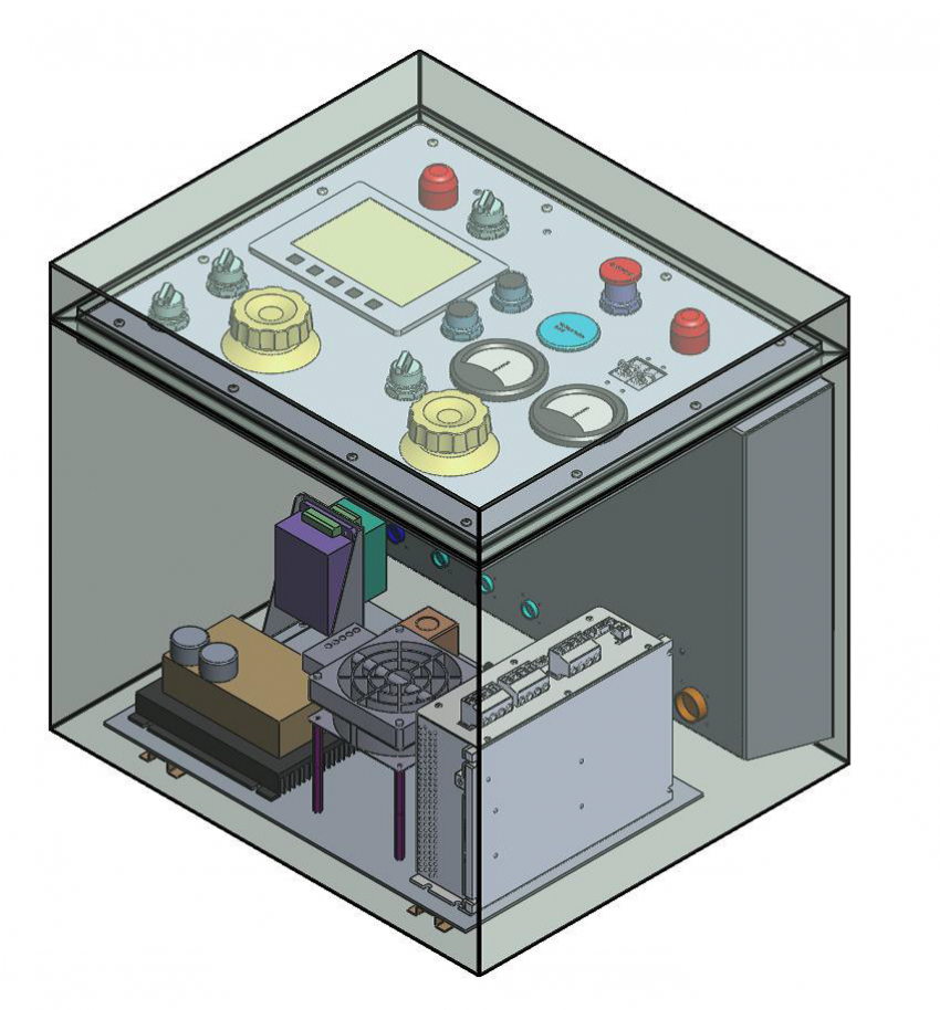 SolidWorks model of the new 'Foro' control box