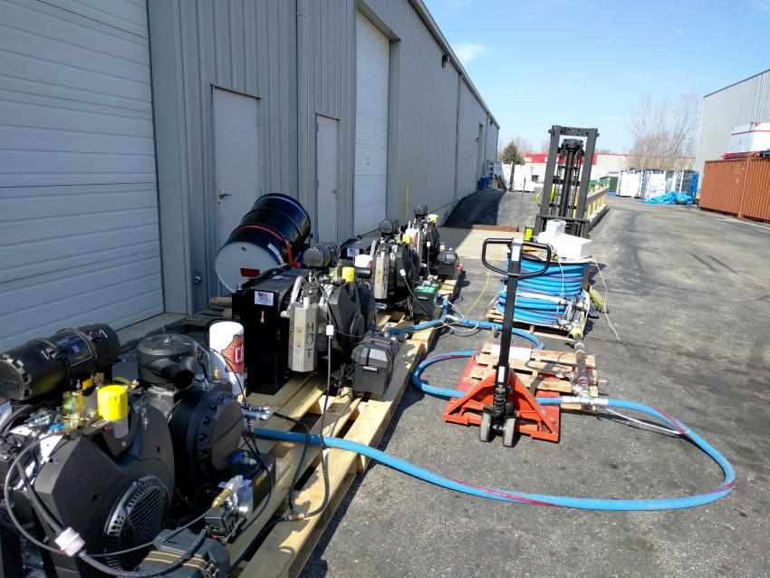 Upgraded RAM Drill 2 compressor testing in Madison, WI