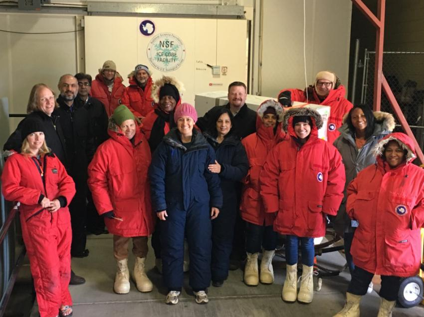 2019 School of Ice workshop participants at the NSF Ice Core Facility