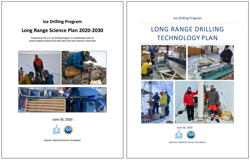 Covers of the Long Range Science Plan and the Long Range Drilling Technology Plan